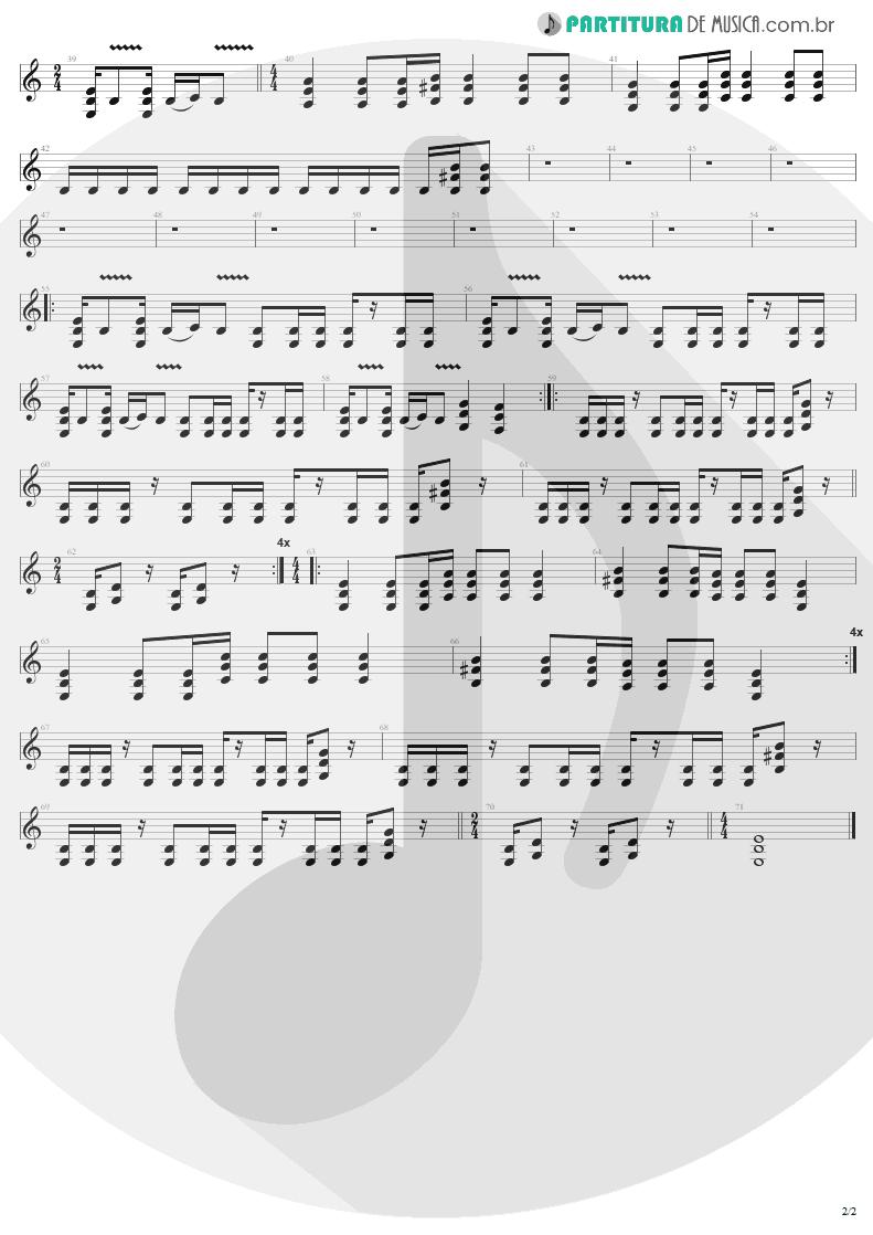 Partitura de musica de Guitarra Elétrica - No Leaf Clover | Metallica | S & M 1999 - pag 2