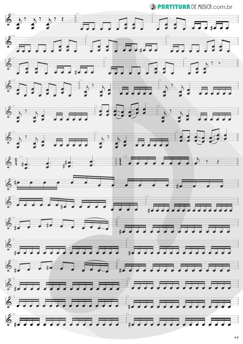 Partitura de musica de Guitarra Elétrica - All Nightmare Long | Metallica | Death Magnetic 2008 - pag 4