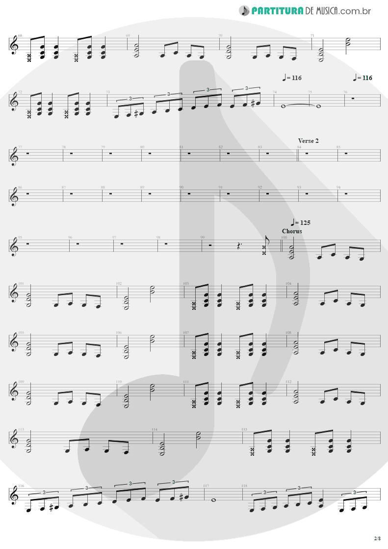 Partitura de musica de Guitarra Elétrica - The Day That Never Come | Metallica | Death Magnetic 2008 - pag 2