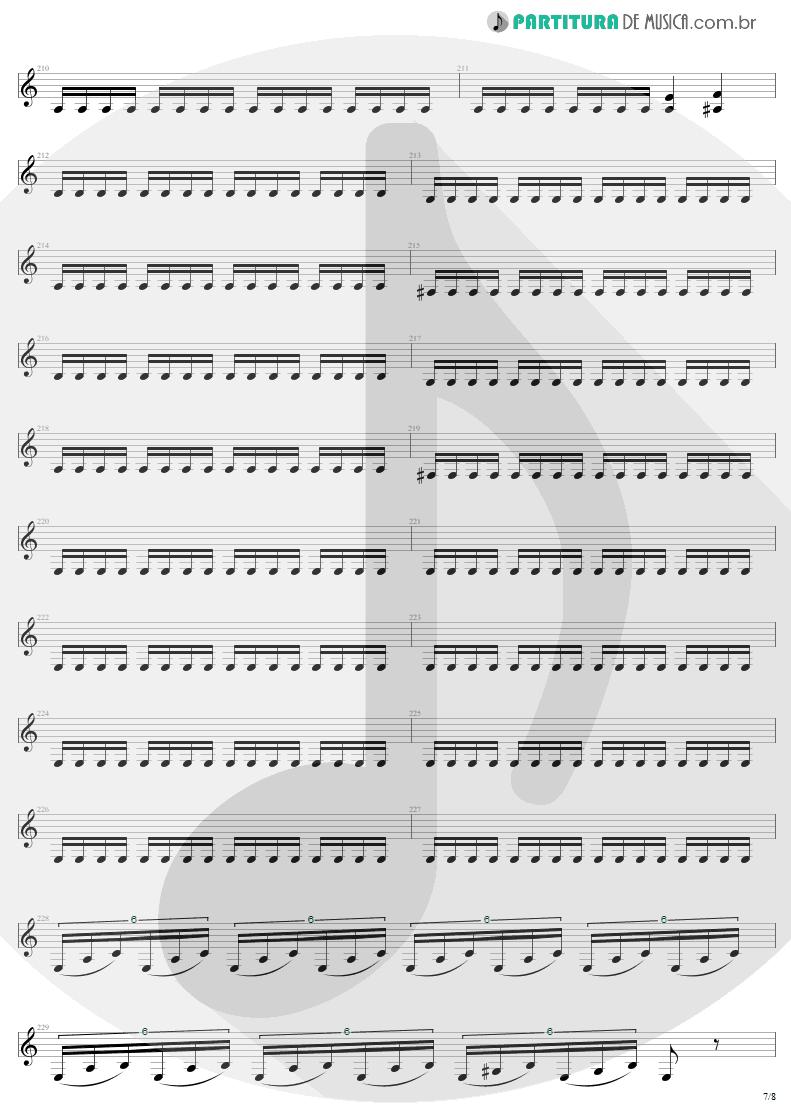 Partitura de musica de Guitarra Elétrica - The Day That Never Come | Metallica | Death Magnetic 2008 - pag 7
