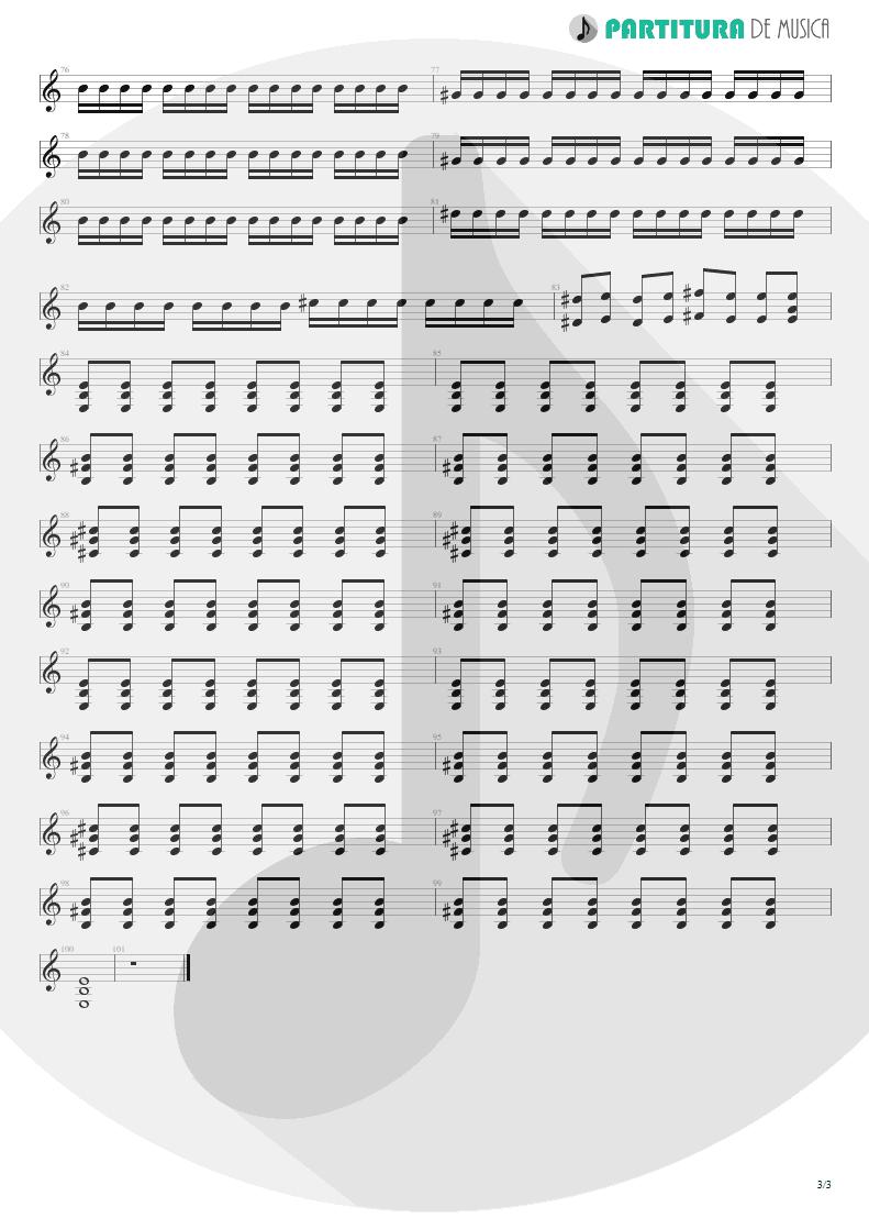 Partitura de musica de Guitarra Elétrica - Helena | My Chemical Romance | Three Cheers For Sweet Revenge 2004 - pag 3