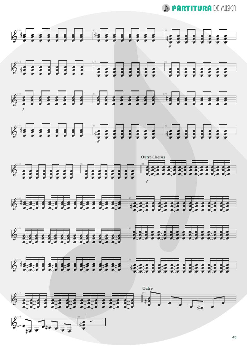 Partitura de musica de Guitarra Elétrica - Thank You For The Venom | My Chemical Romance | Three Cheers For Sweet Revenge 2004 - pag 6