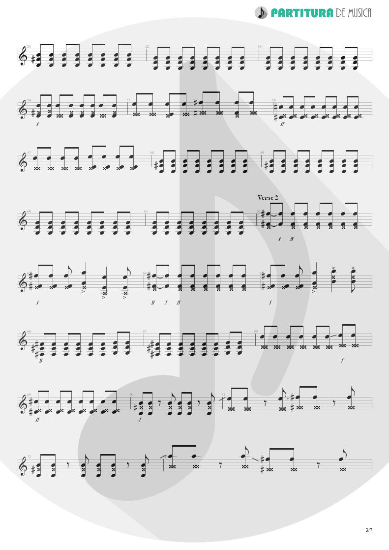 Partitura de musica de Guitarra Elétrica - Thank You For The Venom | My Chemical Romance | Three Cheers For Sweet Revenge 2004 - pag 3