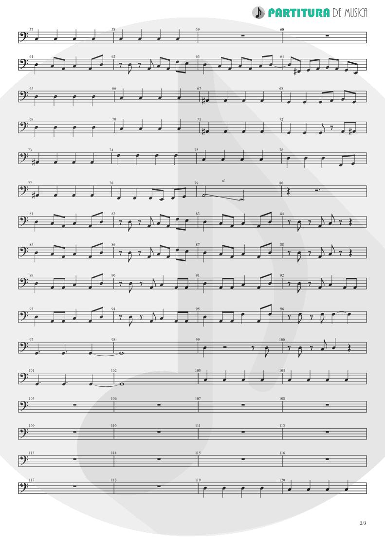 Partitura de musica de Baixo Elétrico - Break Out | Nanase Aikawa | Red 1996 - pag 2