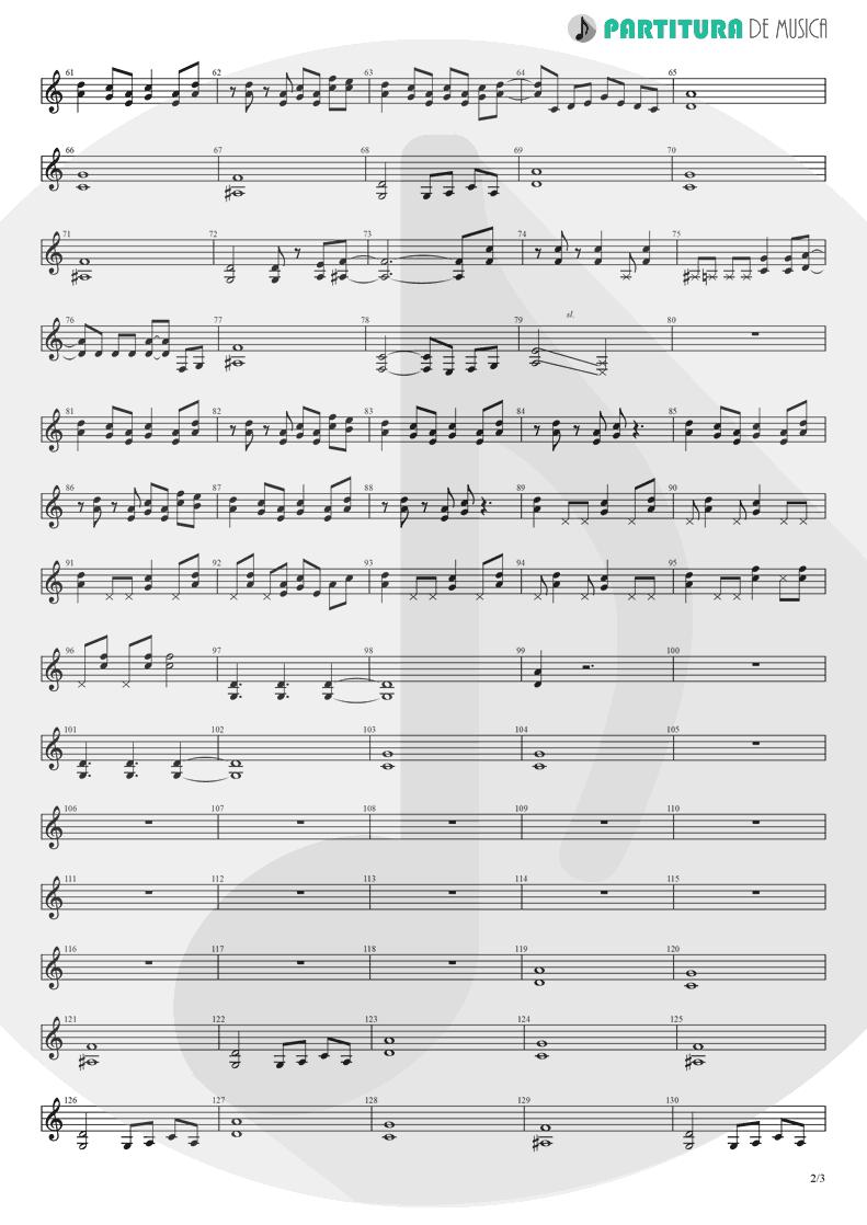 Partitura de musica de Guitarra Elétrica - Break Out | Nanase Aikawa | Red 1996 - pag 2