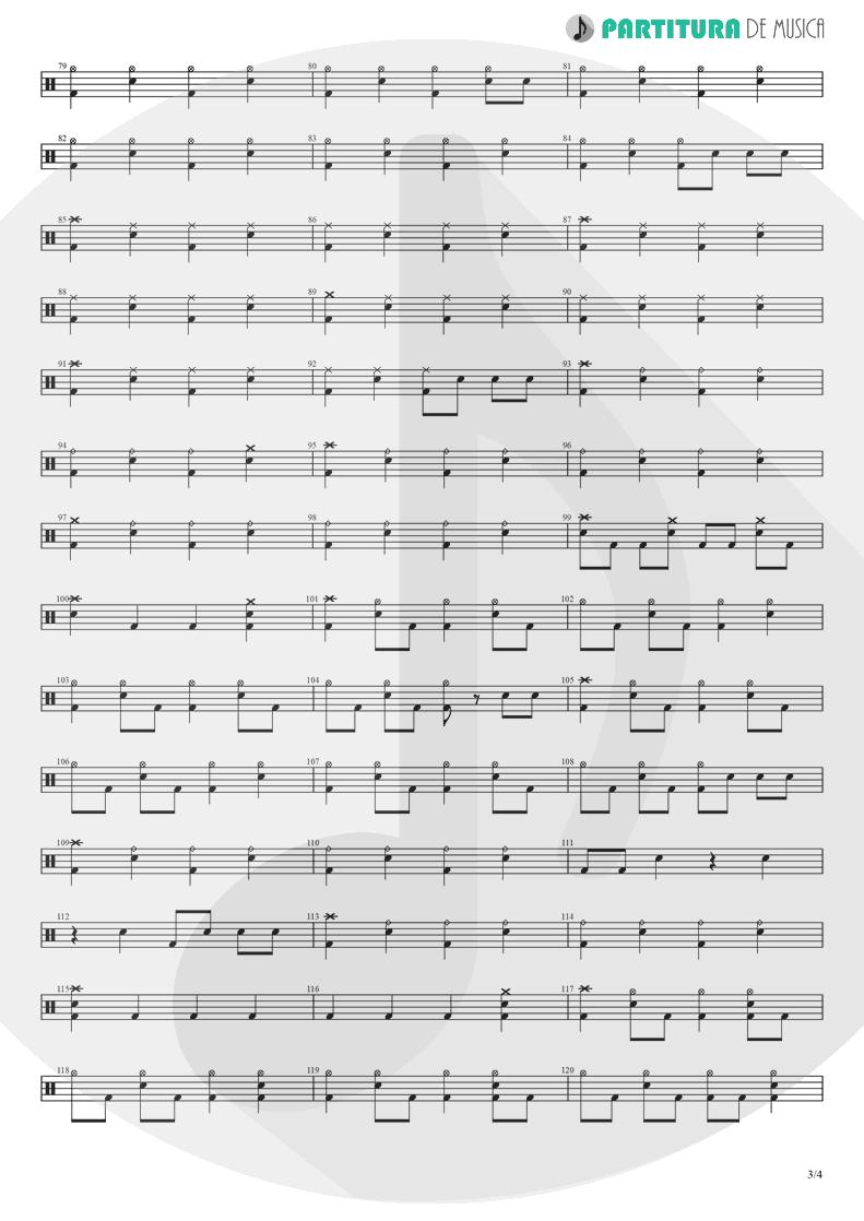 Partitura de musica de Bateria - Yumemiru Shoujo Ja Irarenai | Nanase Aikawa | Red 1996 - pag 3