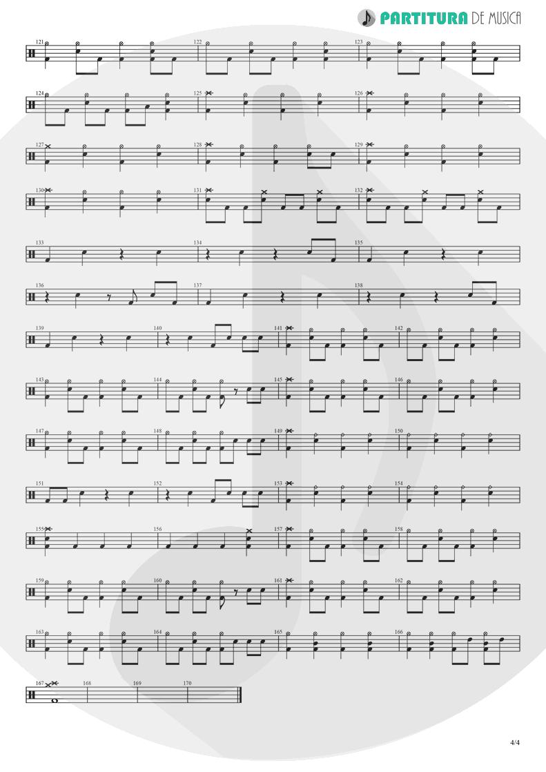 Partitura de musica de Bateria - Yumemiru Shoujo Ja Irarenai | Nanase Aikawa | Red 1996 - pag 4