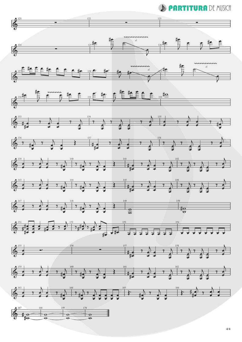 Partitura de musica de Guitarra Elétrica - Yumemiru Shoujo Ja Irarenai | Nanase Aikawa | Red 1996 - pag 4