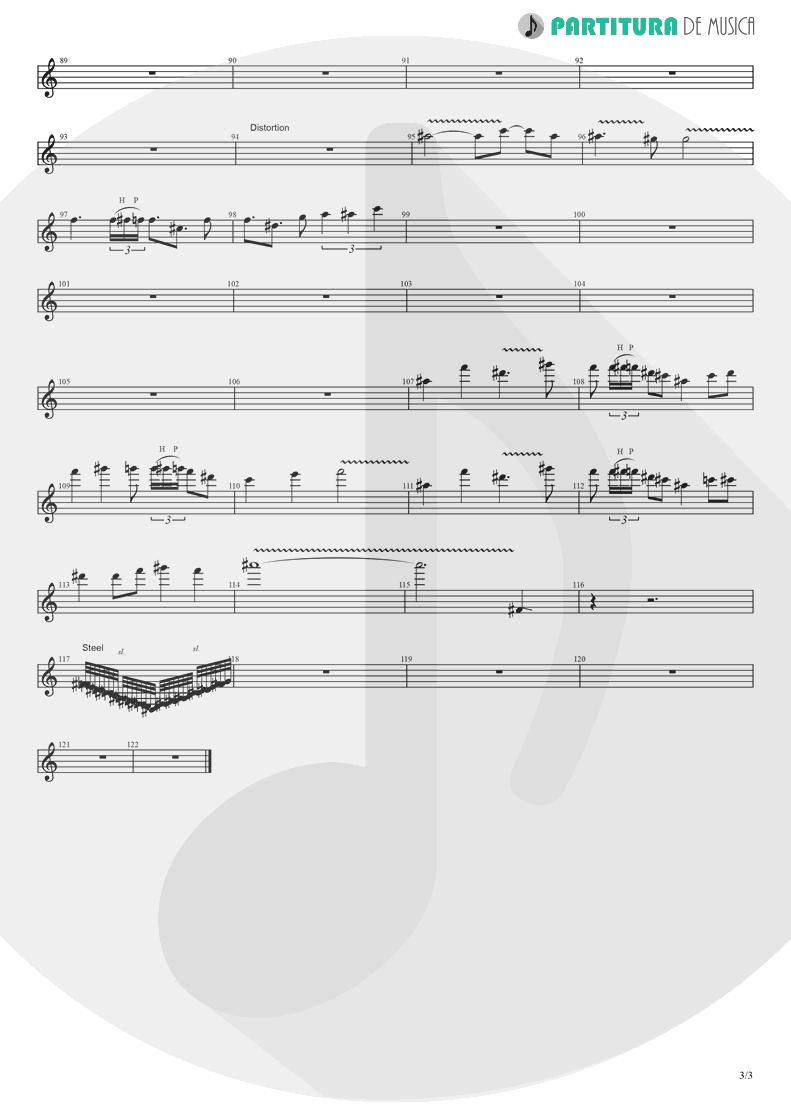 Partitura de musica de Guitarra Elétrica - Koigokoro | Nanase Aikawa | Paradox 1997 - pag 3
