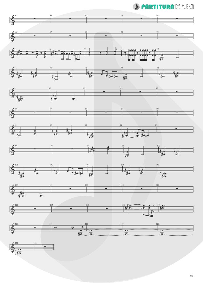 Partitura de musica de Guitarra Elétrica - Koigokoro   Nanase Aikawa   Paradox 1997 - pag 2
