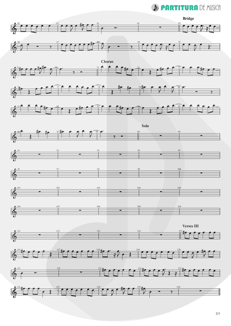 Partitura de musica de Canto - Midnight Blue | Nanase Aikawa | Purana 2001 - pag 2