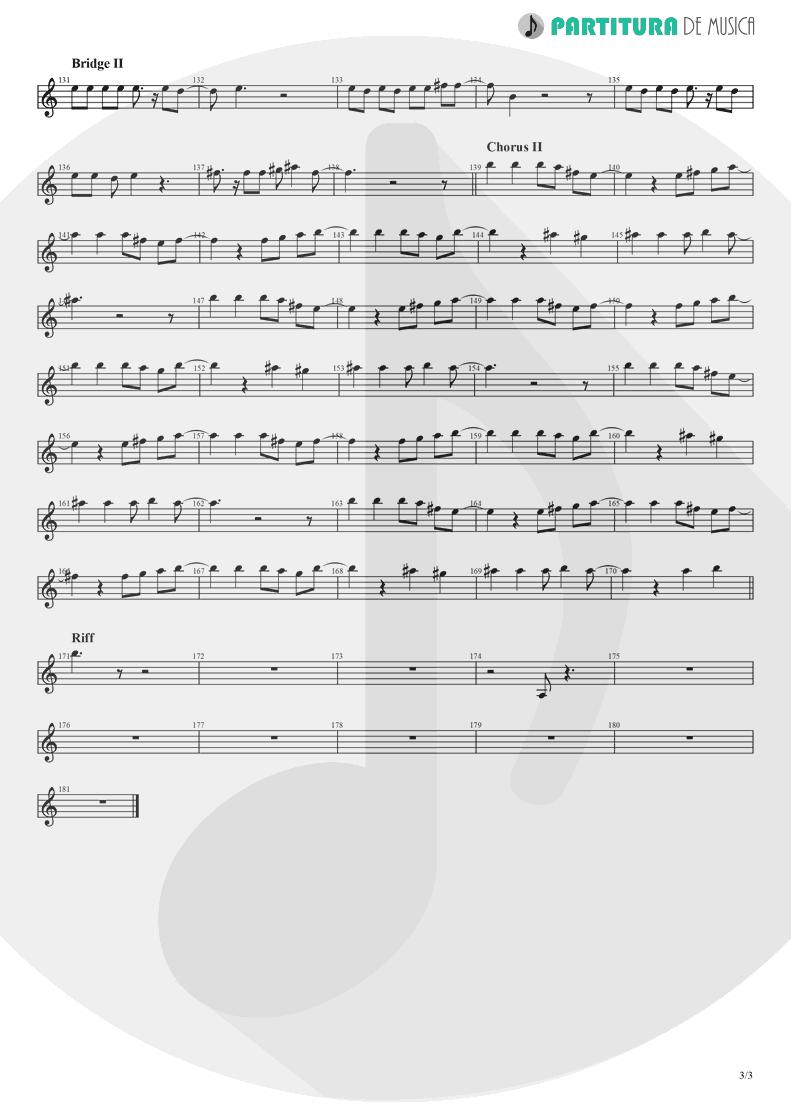 Partitura de musica de Canto - Midnight Blue | Nanase Aikawa | Purana 2001 - pag 3