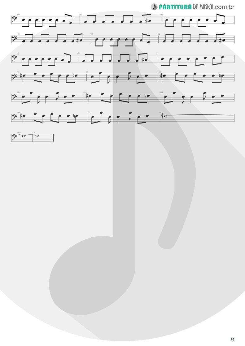 Partitura de musica de Baixo Elétrico - Come As You Are   Nirvana   Nevermind 1991 - pag 3