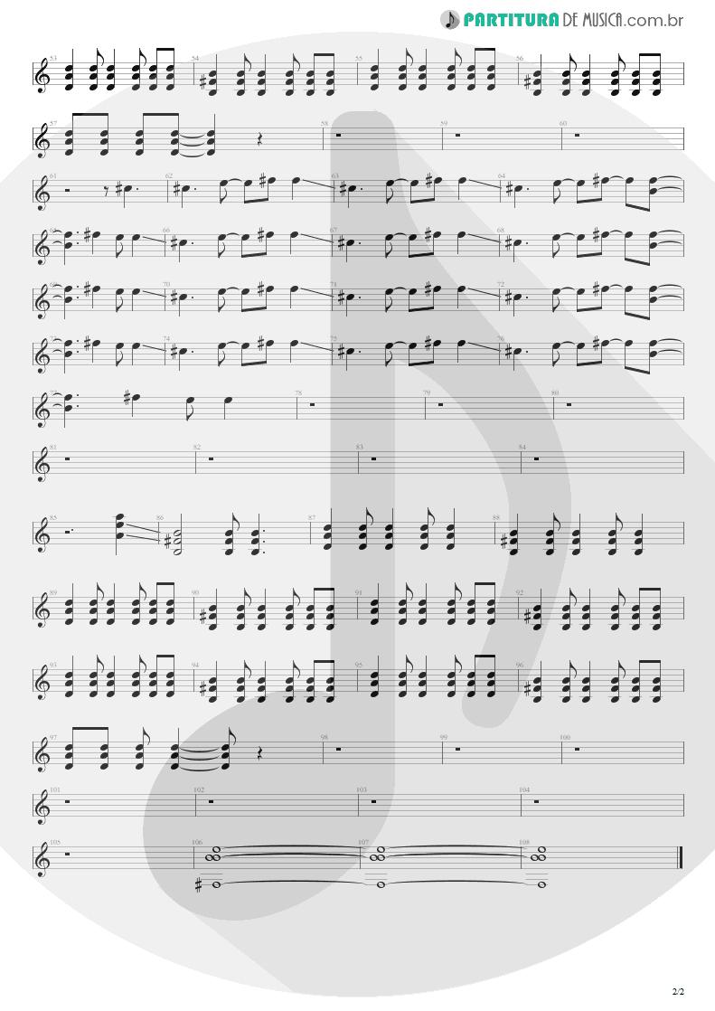 Partitura de musica de Guitarra Elétrica - Come As You Are | Nirvana | Nevermind 1991 - pag 2