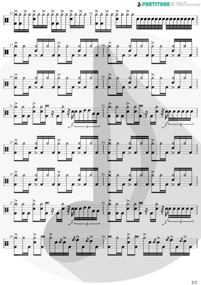 Partitura de musica de Bateria - In Bloom | Nirvana | Nevermind 1991 - pag 2