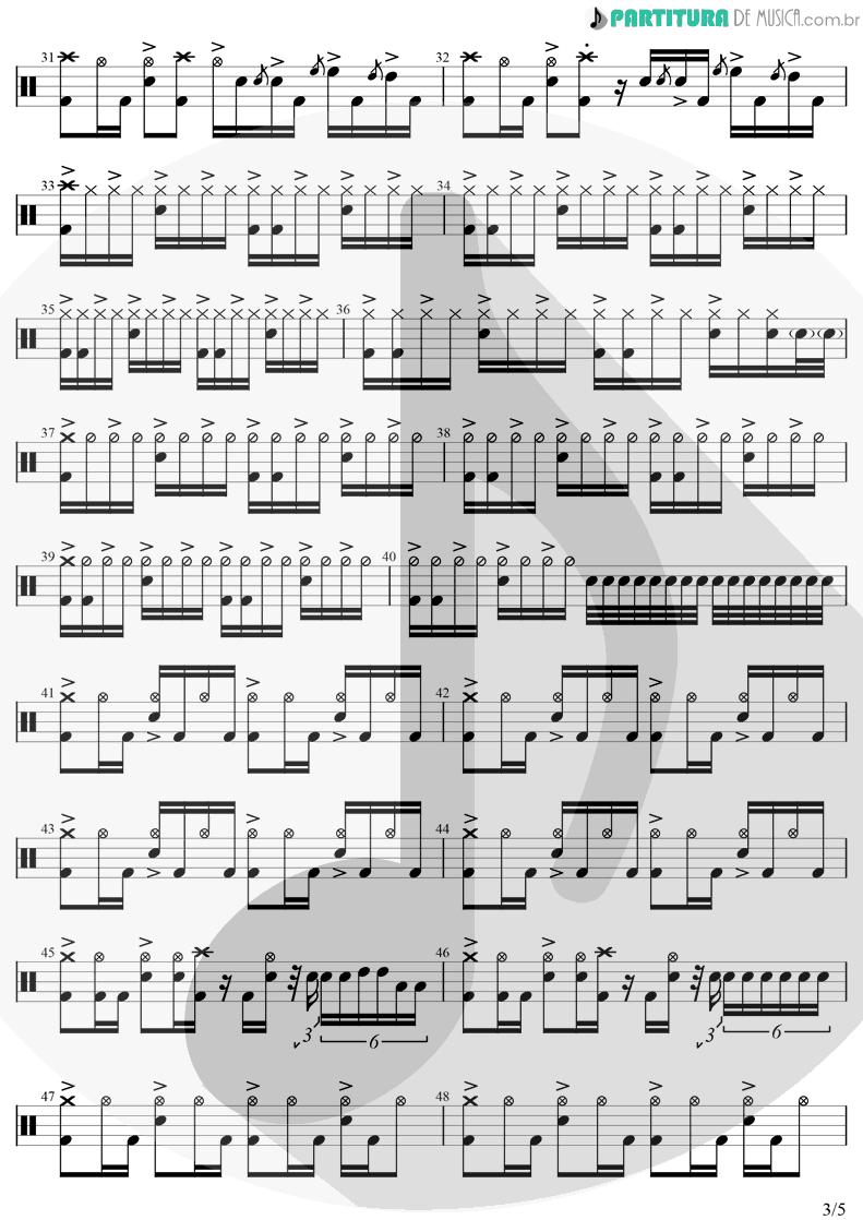 Partitura de musica de Bateria - In Bloom | Nirvana | Nevermind 1991 - pag 3