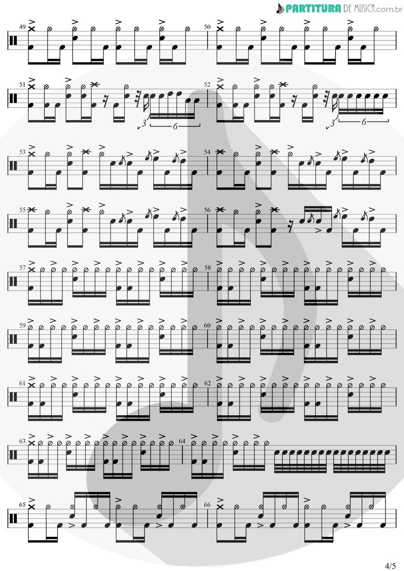 Partitura de musica de Bateria - In Bloom | Nirvana | Nevermind 1991 - pag 4