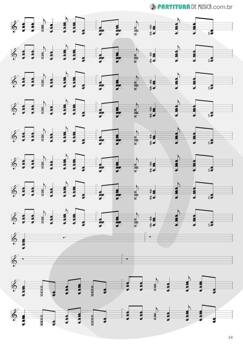 Partitura de musica de Guitarra Elétrica - Polly   Nirvana   Nevermind 1991 - pag 3
