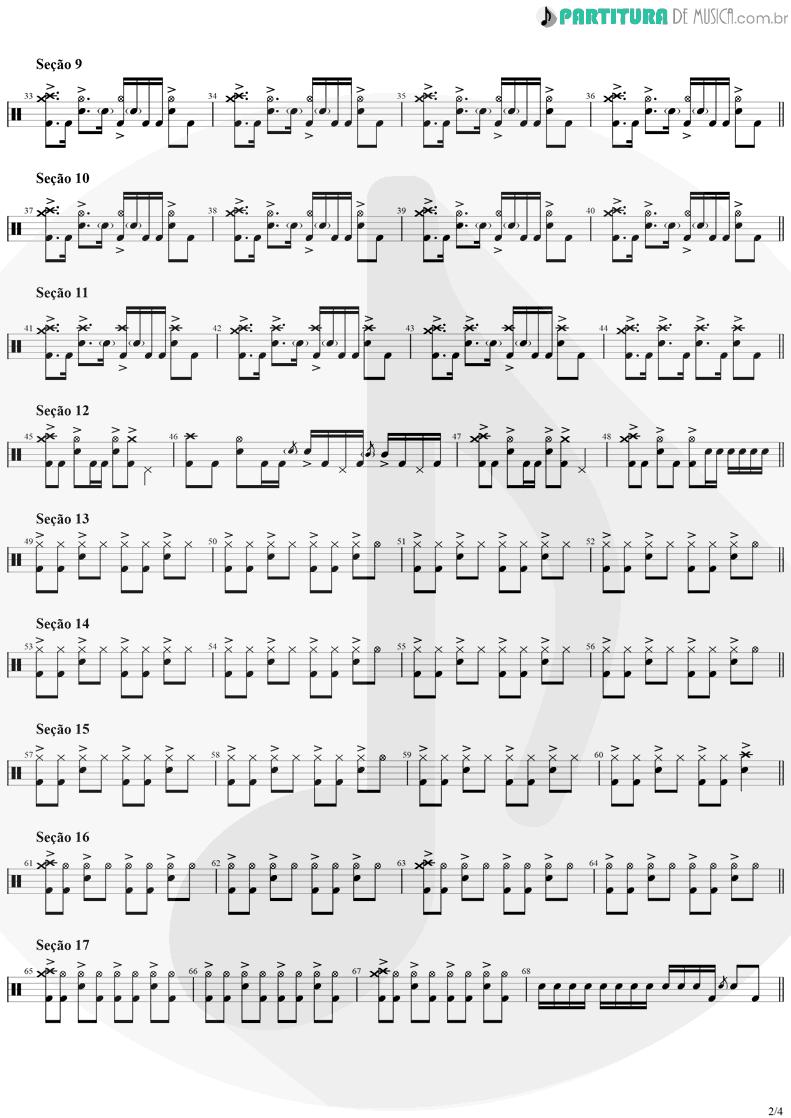 Partitura de musica de Bateria - Smells Like Teen Spirit | Nirvana | Nevermind 1991 - pag 2