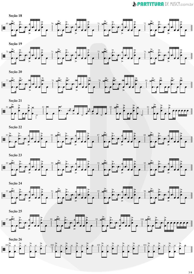 Partitura de musica de Bateria - Smells Like Teen Spirit | Nirvana | Nevermind 1991 - pag 3