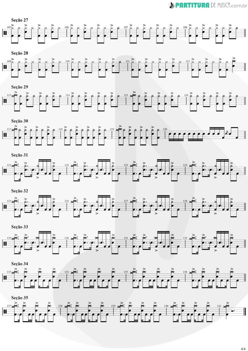 Partitura de musica de Bateria - Smells Like Teen Spirit | Nirvana | Nevermind 1991 - pag 4