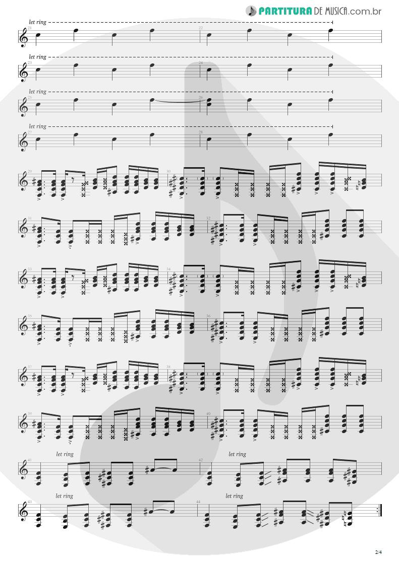 Partitura de musica de Guitarra Elétrica - Smells Like Teen Spirit | Nirvana | Nevermind 1991 - pag 2