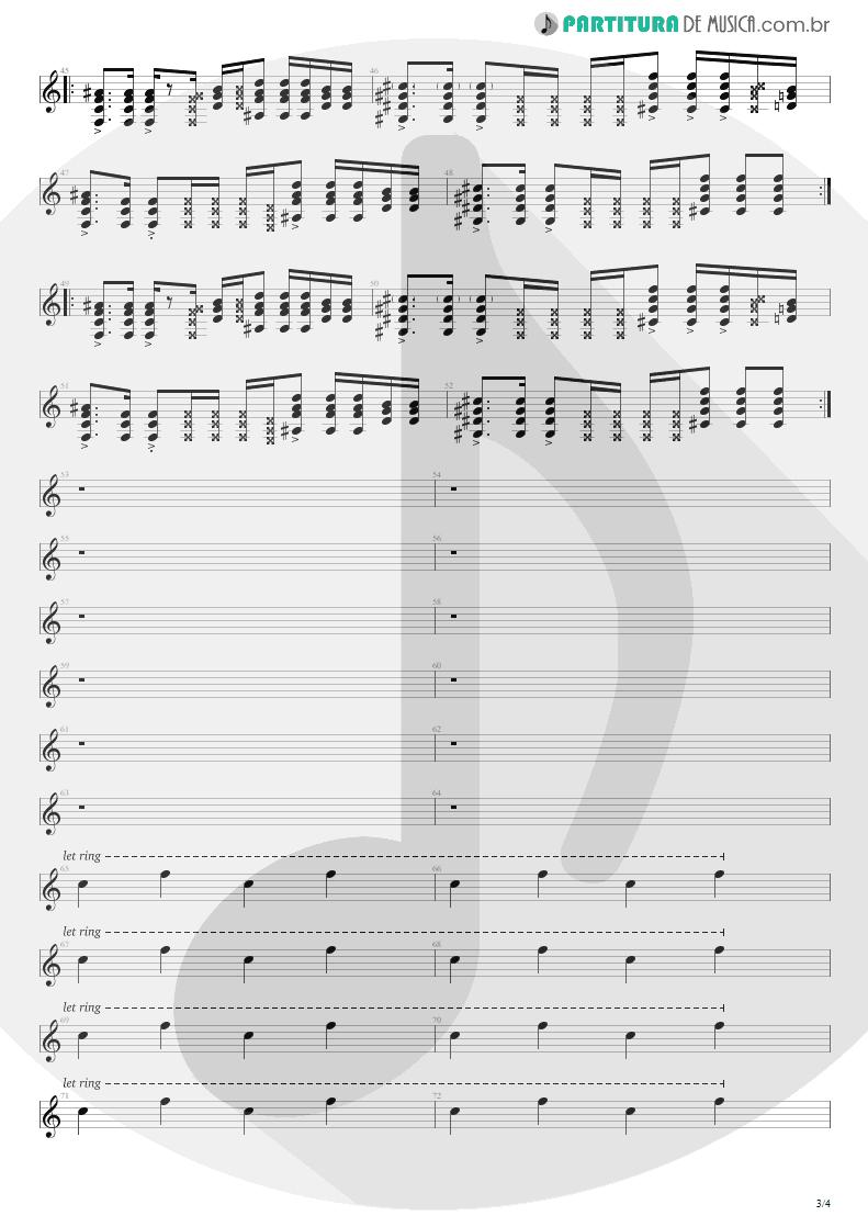 Partitura de musica de Guitarra Elétrica - Smells Like Teen Spirit | Nirvana | Nevermind 1991 - pag 3