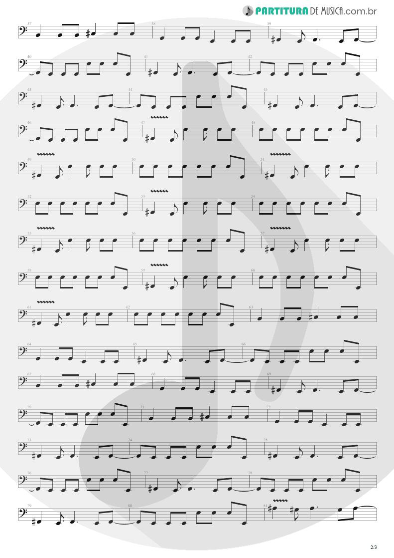 Partitura de musica de Baixo Elétrico - Dive | Nirvana | Incesticide 1992 - pag 2