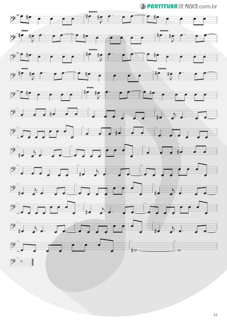 Partitura de musica de Baixo Elétrico - Dive | Nirvana | Incesticide 1992 - pag 3