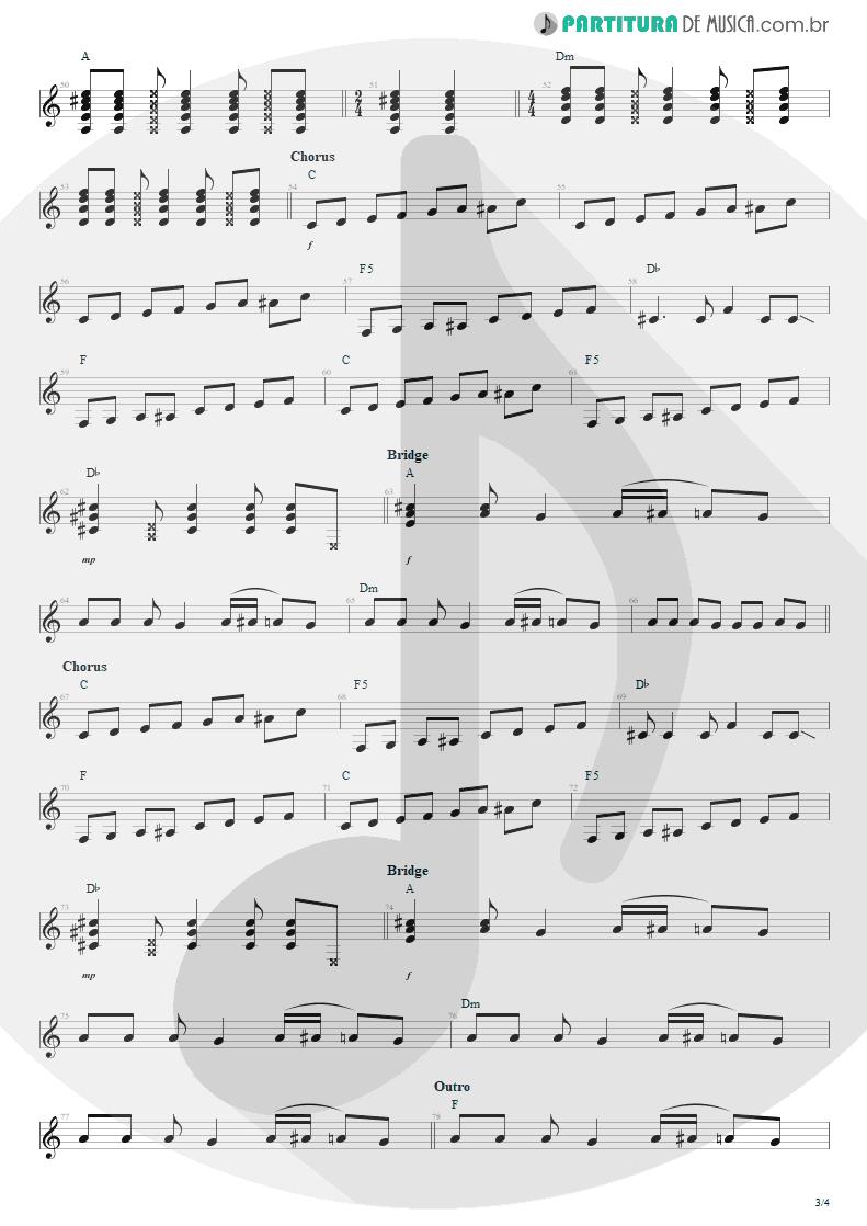 Partitura de musica de Guitarra Elétrica - The Man Who Sold The World | Nirvana | MTv Unplugged in New York 1994 - pag 3