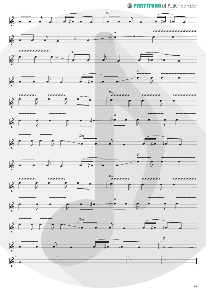 Partitura de musica de Guitarra Elétrica - The Man Who Sold The World | Nirvana | MTv Unplugged in New York 1994 - pag 4