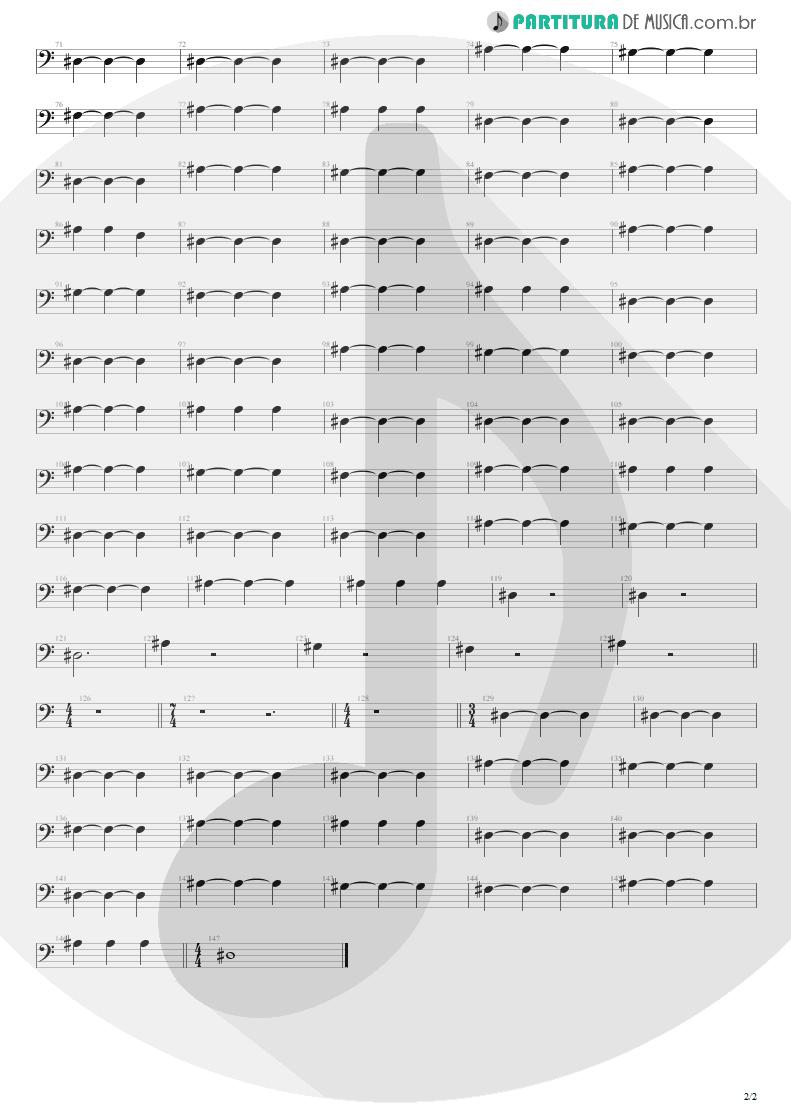 Partitura de musica de Baixo Elétrico - Where Did You Sleep Last Night | Nirvana | MTv Unplugged in New York 1994 - pag 2