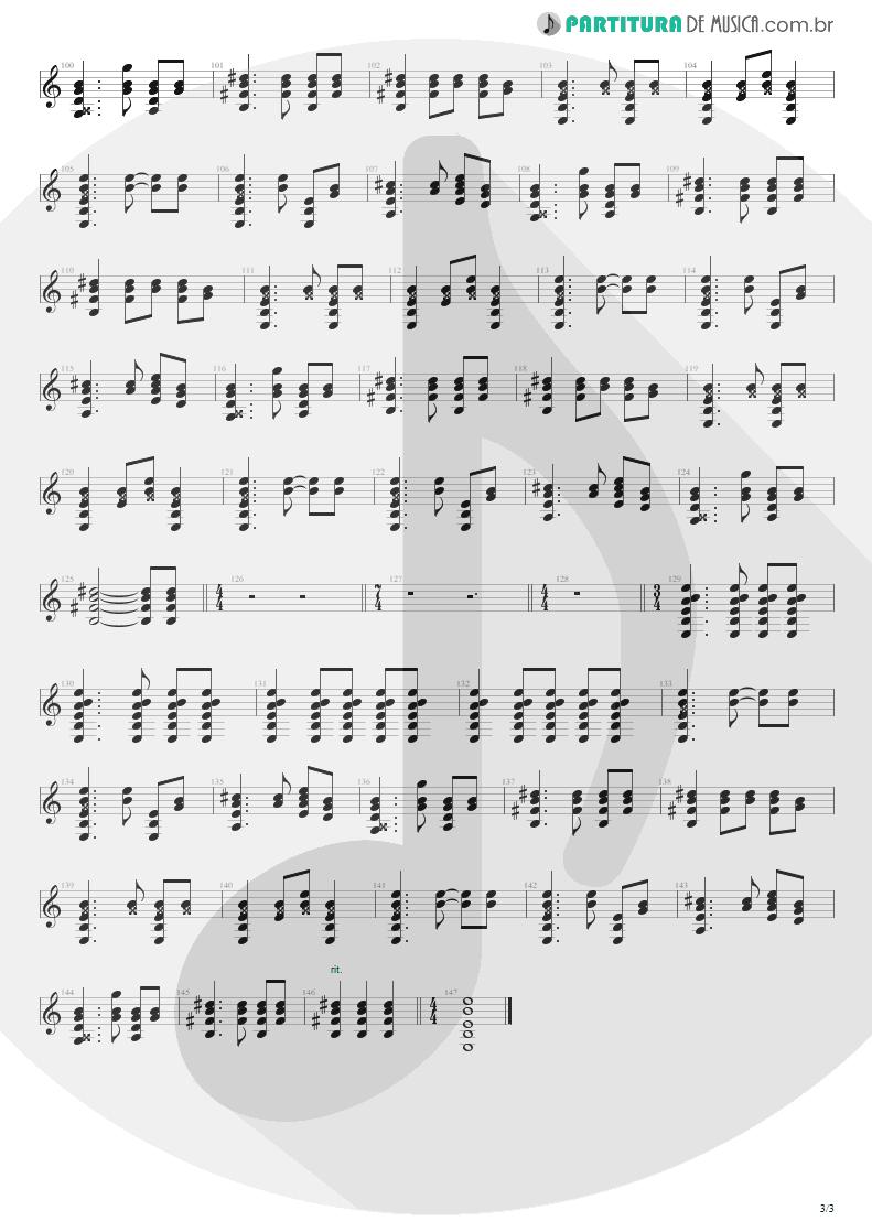 Partitura de musica de Violão - Where Did You Sleep Last Night   Nirvana   MTv Unplugged in New York 1994 - pag 3