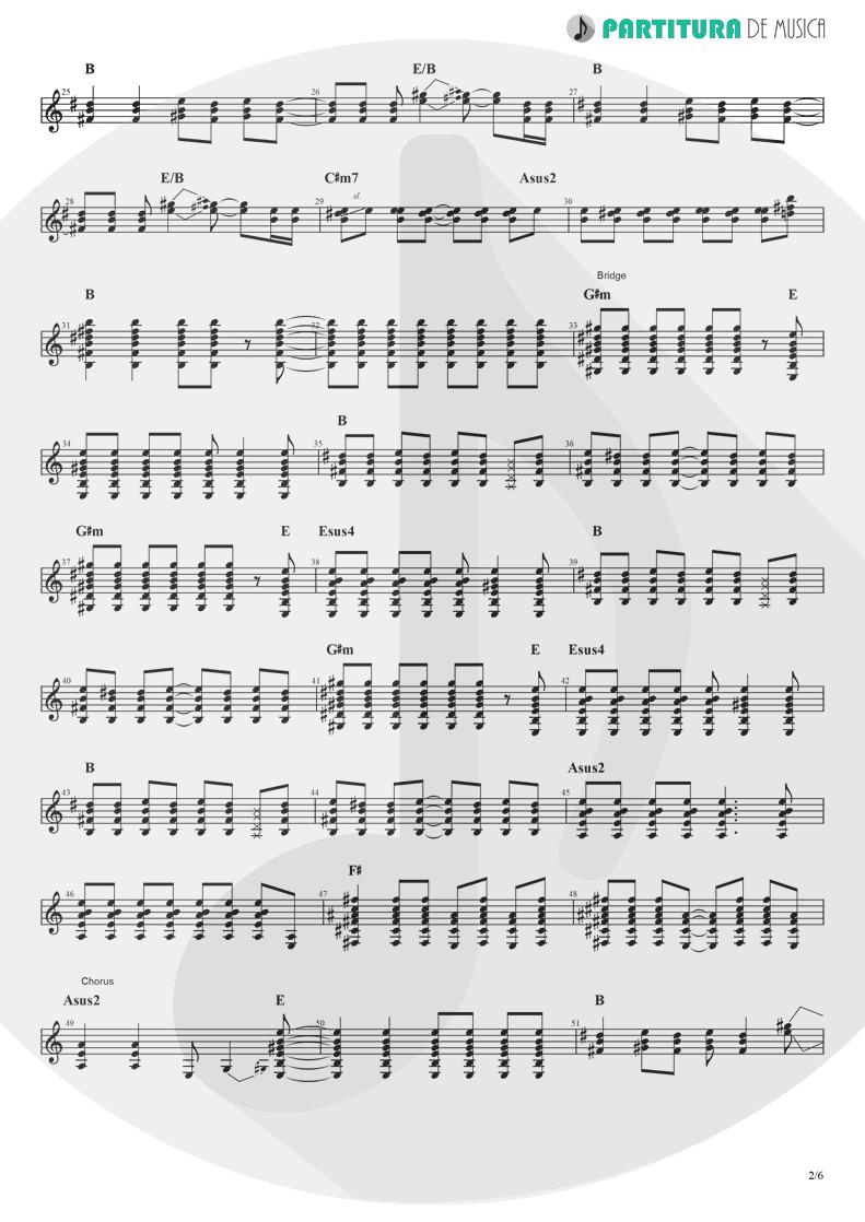 Partitura de musica de Guitarra Elétrica - Rock 'n' Roll Star   Oasis   Definitely Maybe 1994 - pag 2