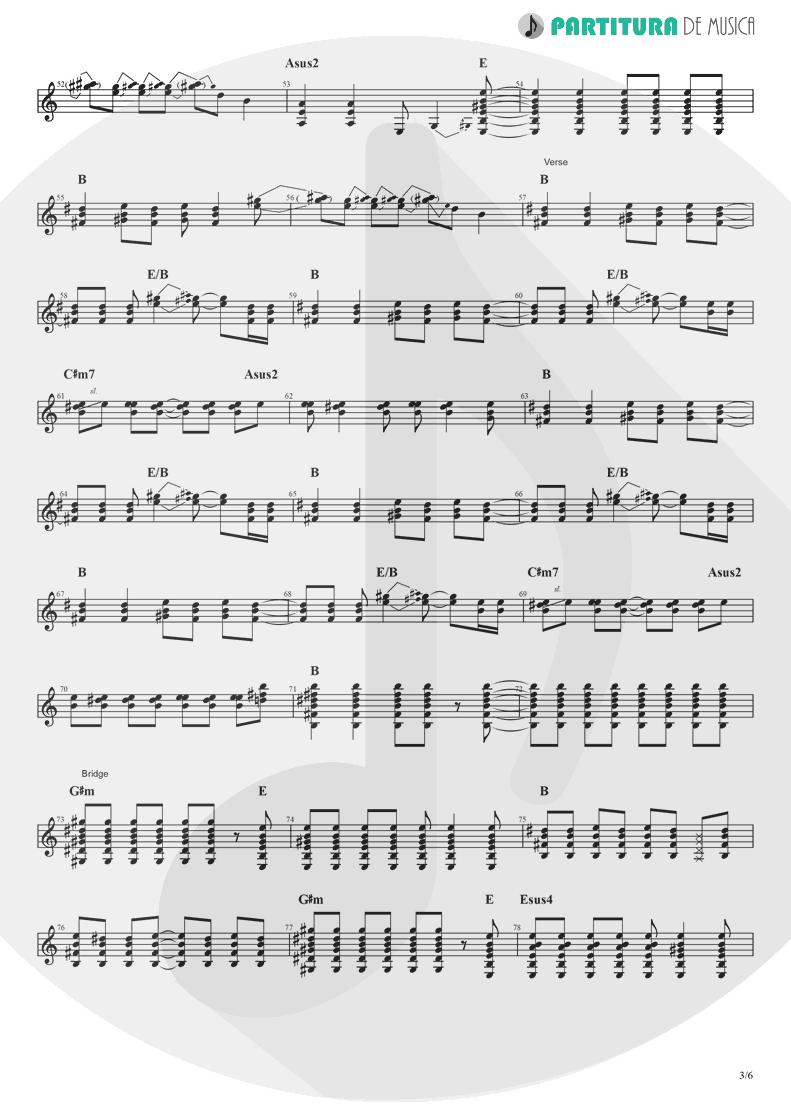 Partitura de musica de Guitarra Elétrica - Rock 'n' Roll Star   Oasis   Definitely Maybe 1994 - pag 3