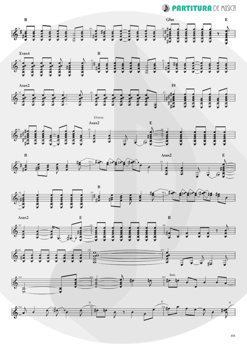 Partitura de musica de Guitarra Elétrica - Rock 'n' Roll Star   Oasis   Definitely Maybe 1994 - pag 4