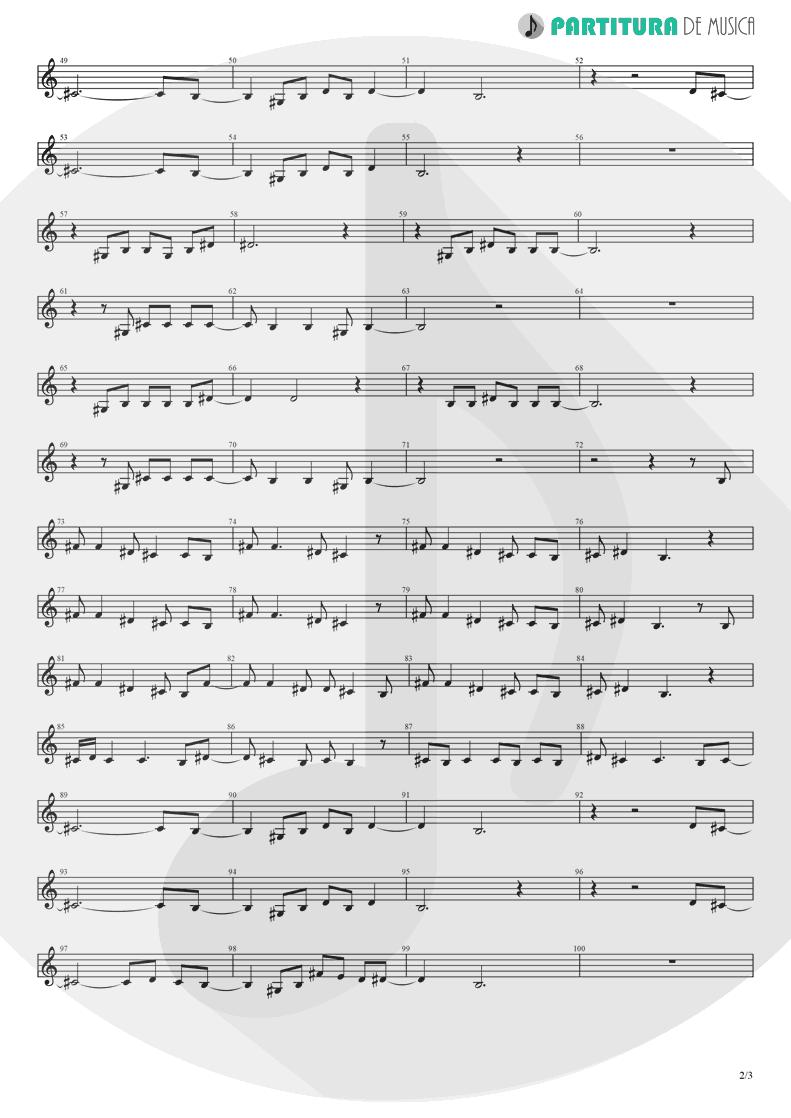 Partitura de musica de Órgão - Rock 'n' Roll Star | Oasis | Definitely Maybe 1994 - pag 2