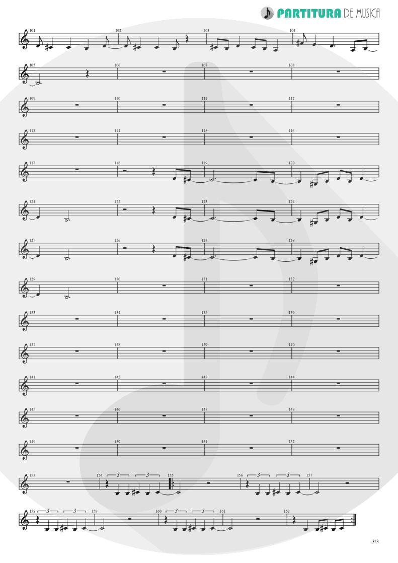 Partitura de musica de Órgão - Rock 'n' Roll Star | Oasis | Definitely Maybe 1994 - pag 3