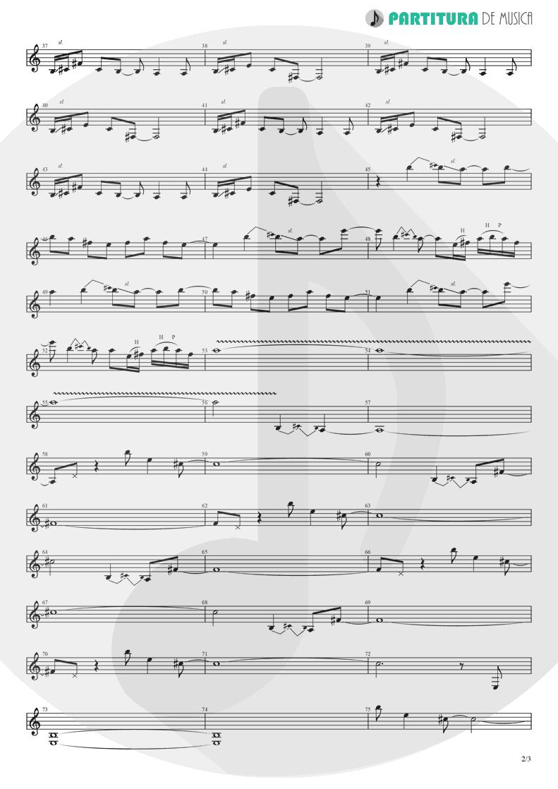 Partitura de musica de Guitarra Elétrica - Supersonic | Oasis | Definitely Maybe 1994 - pag 2