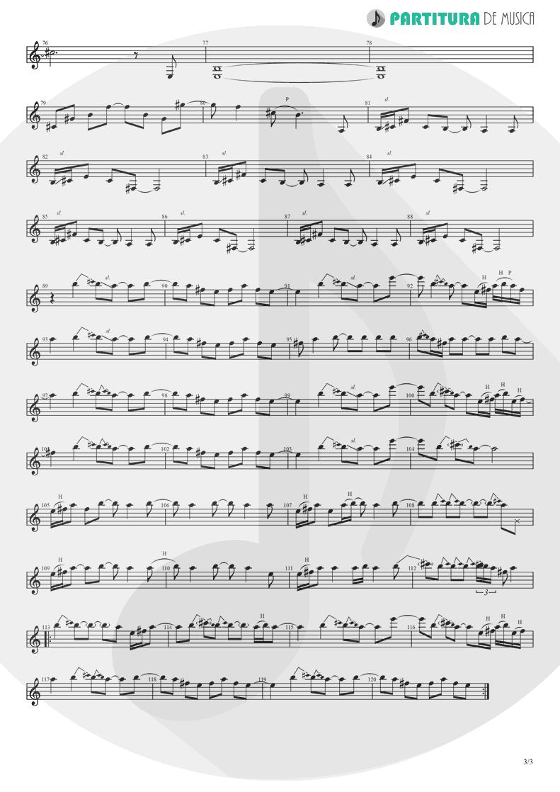 Partitura de musica de Guitarra Elétrica - Supersonic | Oasis | Definitely Maybe 1994 - pag 3