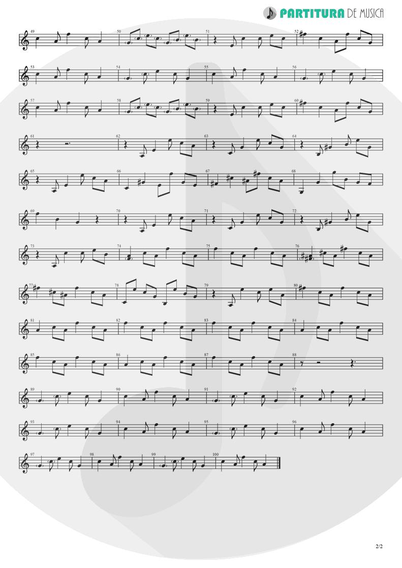 Partitura de musica de Guitarra Elétrica - Half the World Away | Oasis | Whatever 1994 - pag 2