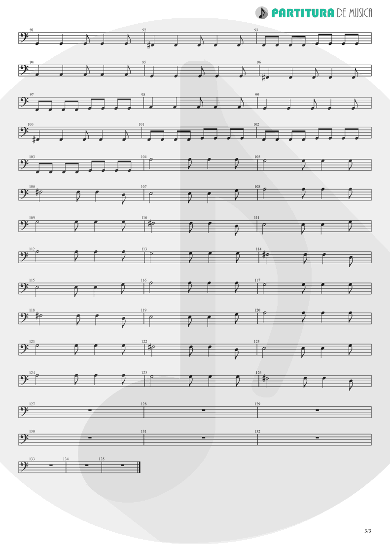 Partitura de musica de Baixo Elétrico - Champagne Supernova | Oasis | (What's the Story) Morning Glory? 1995 - pag 3
