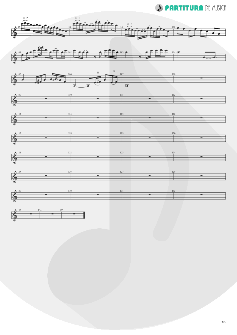 Partitura de musica de Guitarra Elétrica - Champagne Supernova | Oasis | (What's the Story) Morning Glory? 1995 - pag 3