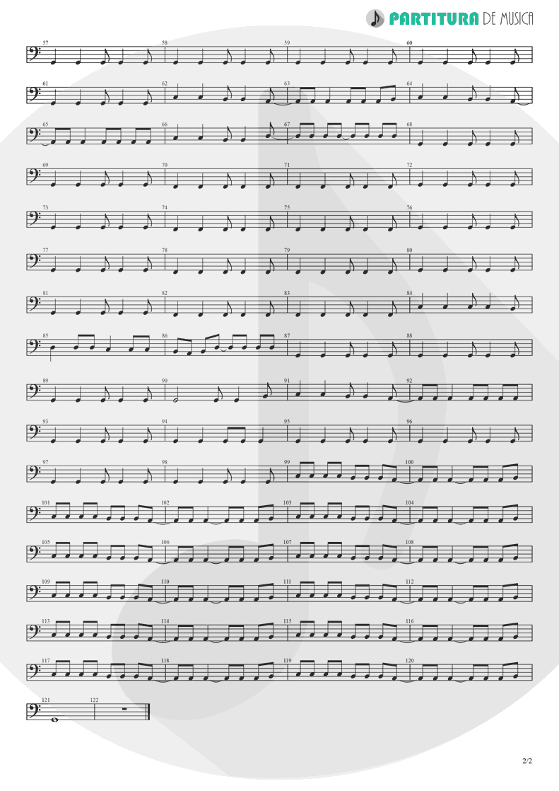 Partitura de musica de Baixo Elétrico - Roll With It | Oasis | (What's the Story) Morning Glory? 1995 - pag 2