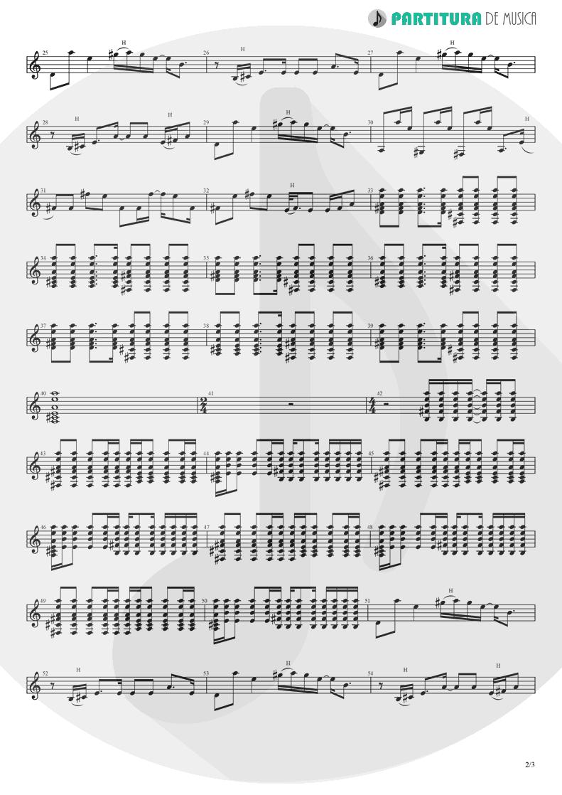Partitura de musica de Guitarra Elétrica - Wonderwall | Oasis | (What's the Story) Morning Glory? 1995 - pag 2