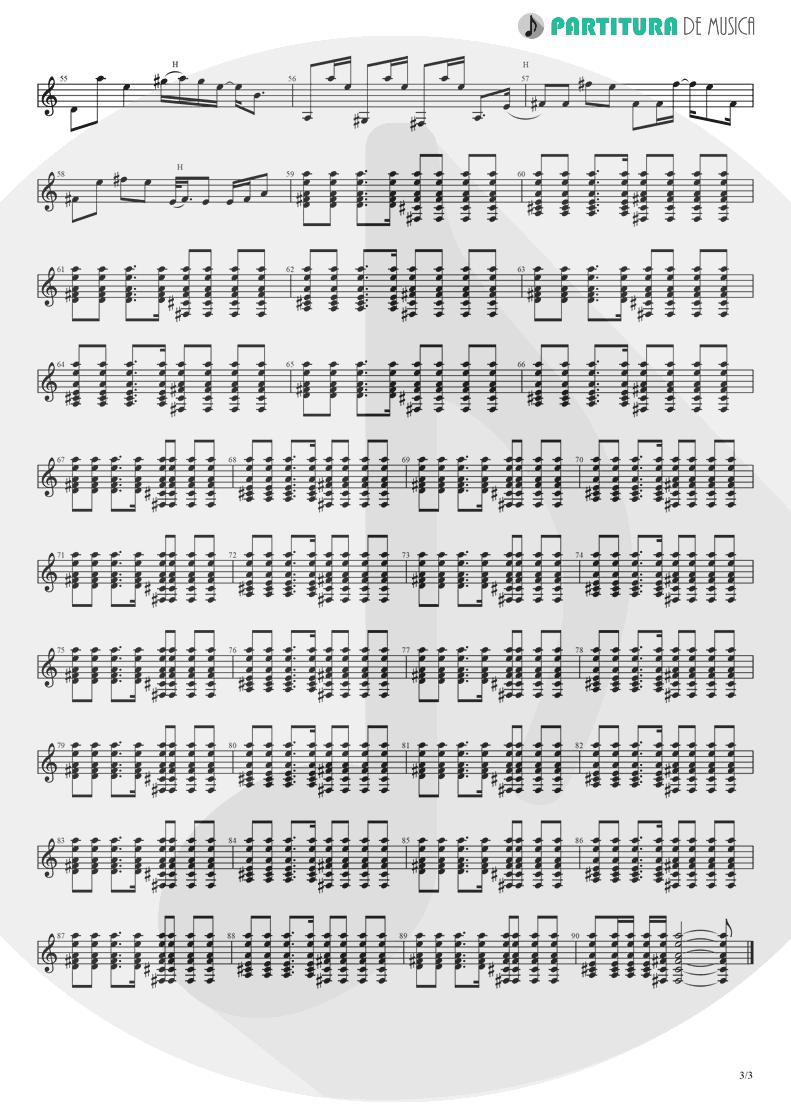 Partitura de musica de Guitarra Elétrica - Wonderwall | Oasis | (What's the Story) Morning Glory? 1995 - pag 3