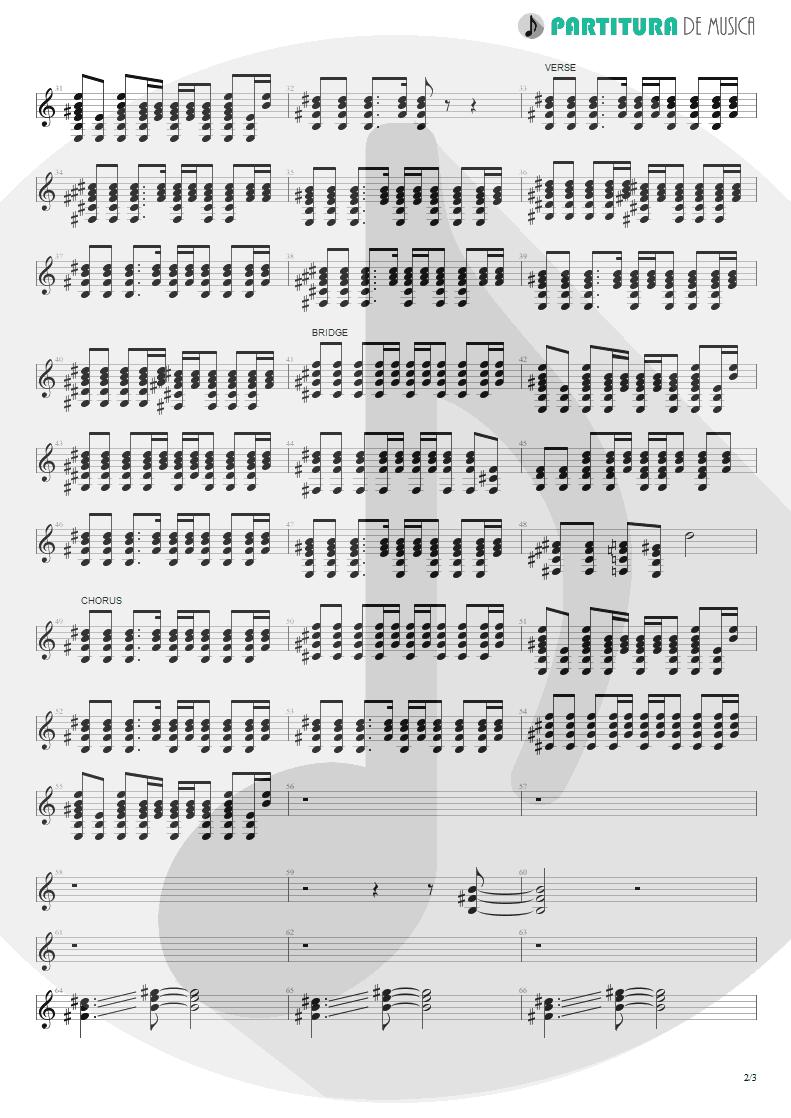 Partitura de musica de Guitarra Elétrica - All Around The World   Oasis   Be Here Now 1997 - pag 2