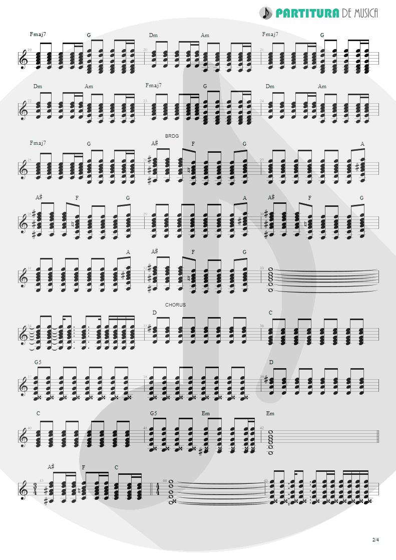 Partitura de musica de Violão - Magic Pie | Oasis | Be Here Now 1997 - pag 2