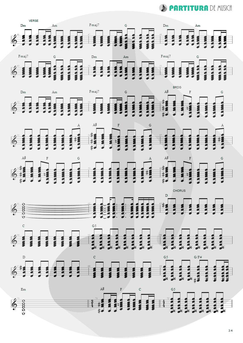 Partitura de musica de Violão - Magic Pie | Oasis | Be Here Now 1997 - pag 3