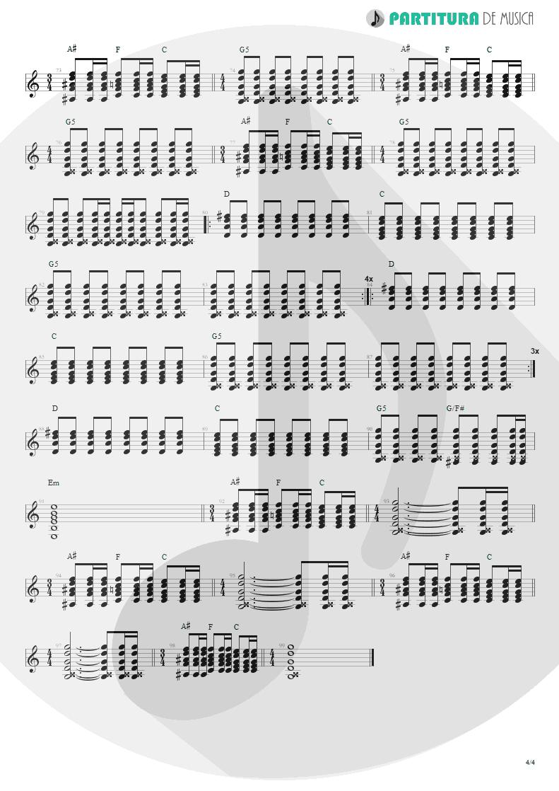 Partitura de musica de Violão - Magic Pie | Oasis | Be Here Now 1997 - pag 4